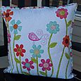 Norma from Petite Debutant - flower garden pillow