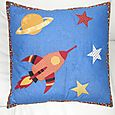 Claude from France Rocket Ship Pillow