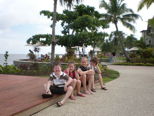 Too much glare to smile - fiji