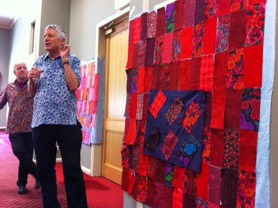 Kaffe & Brandon at Ballarat Patchwork Workshop.