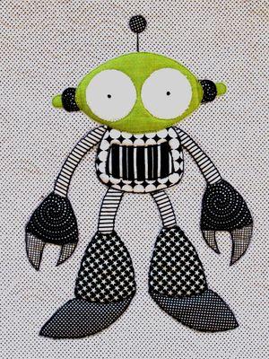Black & Green Robot!