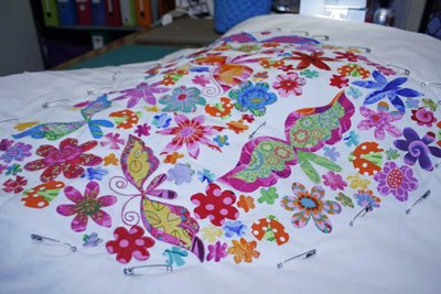 Amanda's Sweet Heart pillow - work in progress shot